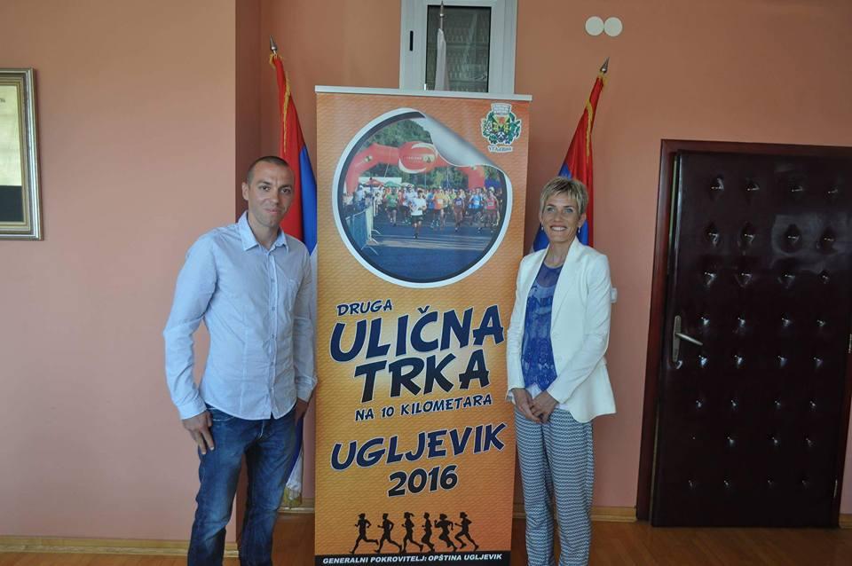 Sa promoterkom Ulične trke Ugljevik Oliverom Jevtić